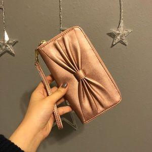 shimmery pink clutch/wallet/wristlet